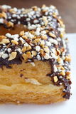 Chocolate and almond croissant Stock Images