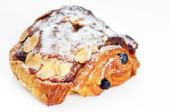 Chocolate and almond croissant Royalty Free Stock Images