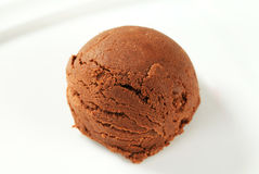 Chocolate almond ice cream Royalty Free Stock Photography