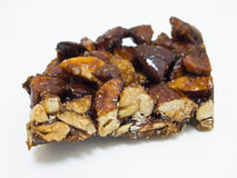 Chocolate almond nougat . Stock Image