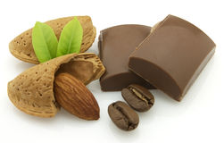 Chocolate with almonds Royalty Free Stock Image