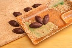 Chocolate Almonds Stock Image