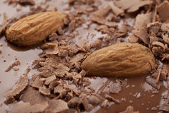 Chocolate with almonds Stock Photography