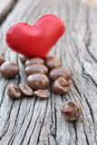 Chocolate almonds Stock Photo