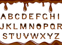 Chocolate alphabet Stock Image