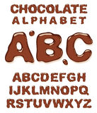 Chocolate alphabet. Royalty Free Stock Images
