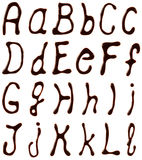 Chocolate alphabet letters Royalty Free Stock Photo