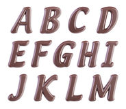 Chocolate alphabet Stock Photography