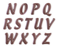 Chocolate alphabet Stock Photos
