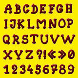 Chocolate alphabet Royalty Free Stock Photos
