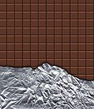 Chocolate in aluminum foil Royalty Free Stock Photography