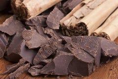 Chocolate amargo Fotografía de archivo