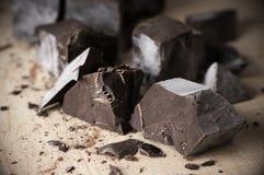 Chocolate amargo oscuro Foto de archivo libre de regalías
