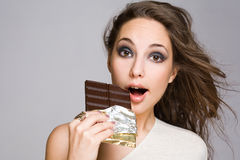 Chocolate amazement. Royalty Free Stock Image