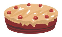 Chocolate And Cherries Cake Royalty Free Stock Photography