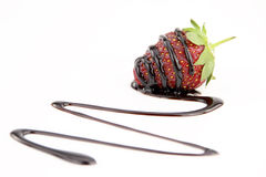 Chocolate And Strawberry Stock Image