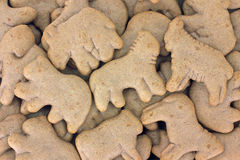 Chocolate animal crackers Royalty Free Stock Images