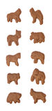 Chocolate Animal Crackers Royalty Free Stock Photography