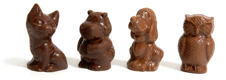 Chocolate animals Royalty Free Stock Photography