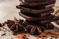Chocolate with Anise Star Royalty Free Stock Photography
