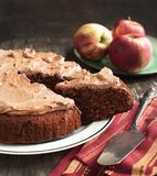 Chocolate apple cake Royalty Free Stock Image