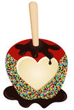 Chocolate Apple Love Royalty Free Stock Photo