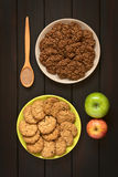 Chocolate and Apple Oatmeal Cookies Royalty Free Stock Image