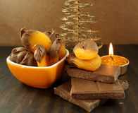 Chocolate apricot Royalty Free Stock Photography