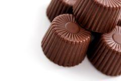 Chocolate arredondado fotografia de stock