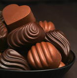 Chocolate assorted with background Stock Images