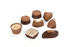 Chocolate assortment Stock Photos