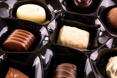 Chocolate assortment Stock Photography