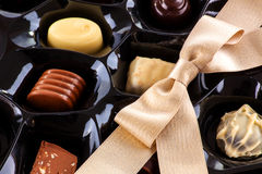 Chocolate assortment Stock Photo