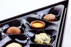 Chocolate assortment Royalty Free Stock Photos