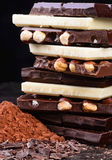 Chocolate assortment. Stock Image