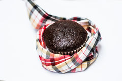 Chocolate babana cup cake isolate on white background Royalty Free Stock Photography