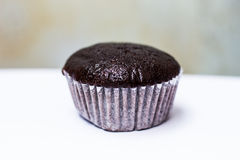 Chocolate babana cup cake isolate on white background Royalty Free Stock Photos
