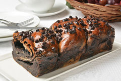 Chocolate babka Royalty Free Stock Image
