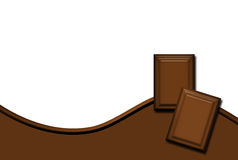 The Chocolate Background. The illustration of chocolate background with copy space stock illustration