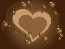 Chocolate background. Vector picture of chocolate heart background royalty free illustration