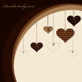 Chocolate background. Vector picture of chocolate background vector illustration