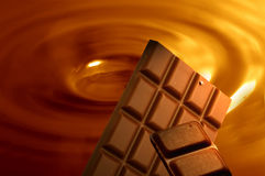 Chocolate background. With bars of chocolated Stock Image