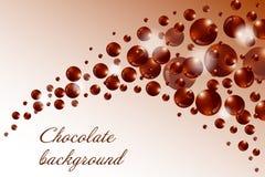 Chocolate background Stock Photography