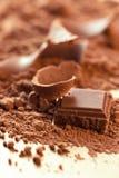 Chocolate background Stock Photos