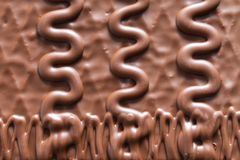 Chocolate background with abstract pattern royalty free stock images