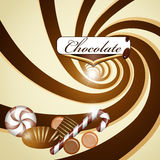 Chocolate background and candy Royalty Free Stock Photography