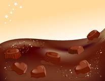 Chocolate background and candy Stock Photography