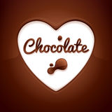 Chocolate background. Heart-shaped space. Royalty Free Stock Image