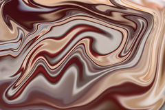 Chocolate background with liquify effect. Abstract image Royalty Free Stock Photo