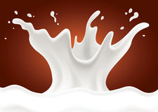 Chocolate background with Milk splash Royalty Free Stock Photography